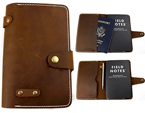 Moleskin Brown (Standard Knight Co. Leather Passport and Pocket Notebook Cover - Fits Field Notes, Rhodia and Pocket Moleskin - Modern, Minimalist Design - Premium Quality, Full-Grain Crazy Horse Leather)