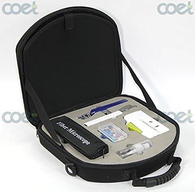 Komshine KIC-7E Fiber Optic Connector Inspection and Cleaning kit with Fiber Optic Inspection Microscope KIS-200 + Fiber Connector Cleaners