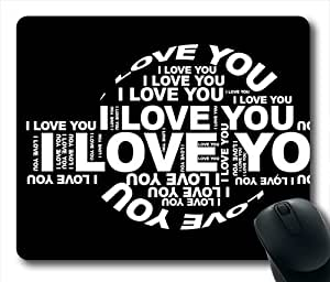 Love Word Oblong Shaped Mouse Mat