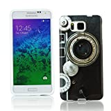 Kit Me Out CAN TPU Gel Case for Samsung Galaxy Alpha G850F - Multicoloured Vintage / Retro Camera
