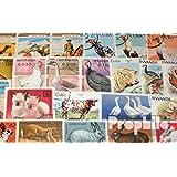 sellos para coleccionistas: motivos 100 diferentes mascotas sellos