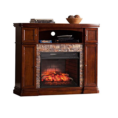 Cheap Southern Enterprises Hillcrest Infrared Electric Fireplace TV Stand