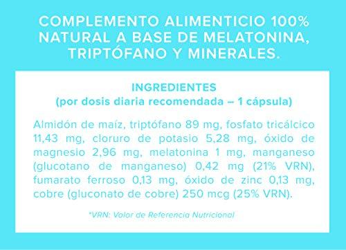 Conciliador de sueño. CERO STRESS Melatonina + Triptófano. Relajante natural: Amazon.es: Salud y cuidado personal