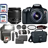 Canon EOS Rebel T6 DSLR Camera Bundle with Canon EF-S 18-55mm f/3.5-5.6 IS II Lens + 2pc 32 GB SD Card + Card Reader + Flash