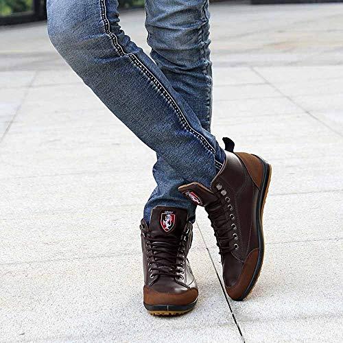 Botte Cheville Souple Rivet Shoes Café Cuir Hommes Bottes Travail Rock Bottines Hiver Boot Chaussure Punk Lacets Moto Automne Vintage Rétro De Moonuy 6qw8TAw