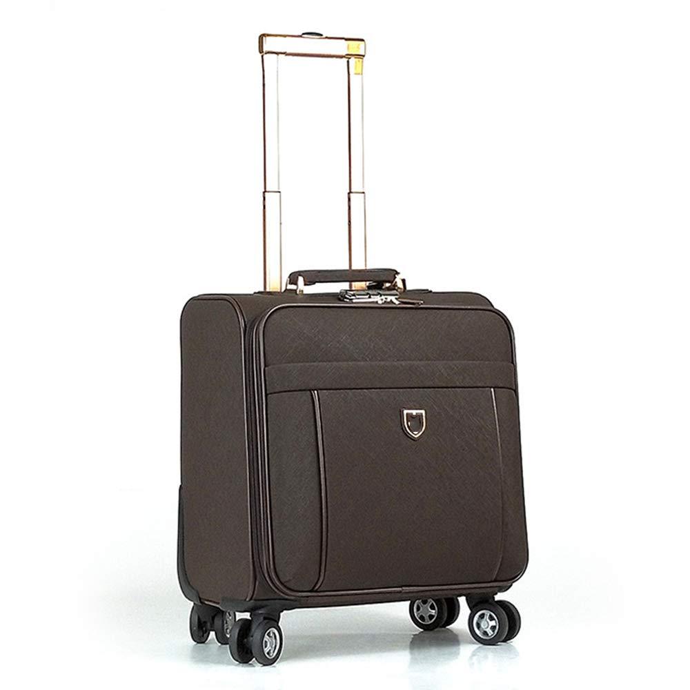 荷物スーツケース、4輪ユニバーサルPUレザートロリーケース、18インチ軽量ビジネストラベル手荷物、男性用および女性用スーツケース,E B07T3GHKMF E