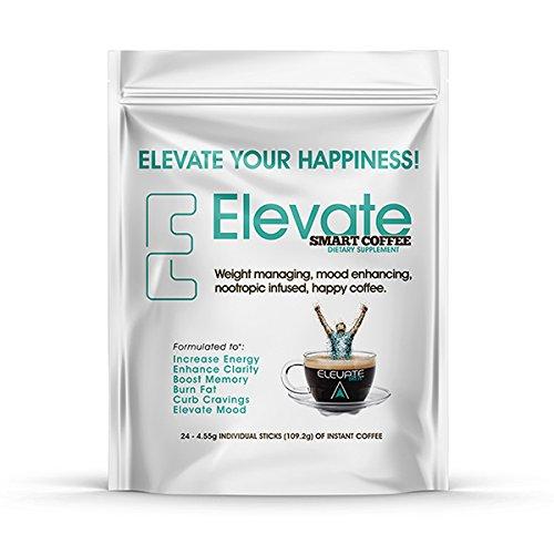 ELEVACITY Elevate Smart Coffee Individual serving stick packs- 24 servings per bag, 20 calories & 140 mg caffeine/serving, ORIGINAL FORMULA by Elevacity