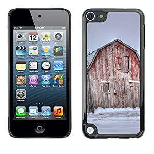Print Motif Coque de protection Case Cover // F00000110 granero viejo cobertizo campo rojo de // Apple ipod Touch 5 5G 5th 6 6G 6th