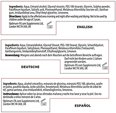 Crema de Tratamiento Vteen para Espinillas con Ácido Salicílico de Alta Potencia - Milia y Problemas de Manchas y Piel Grasa - Adecuada y Segura para las Personas Propensas al Acné - Sin Parabenos 50g