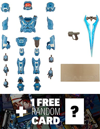 (Halo Mjolnir Mark VI Armor 4 Kotobukiya ArtFX+ Armor Set + 1 Free Video Games Themed Trading Card Bundle)