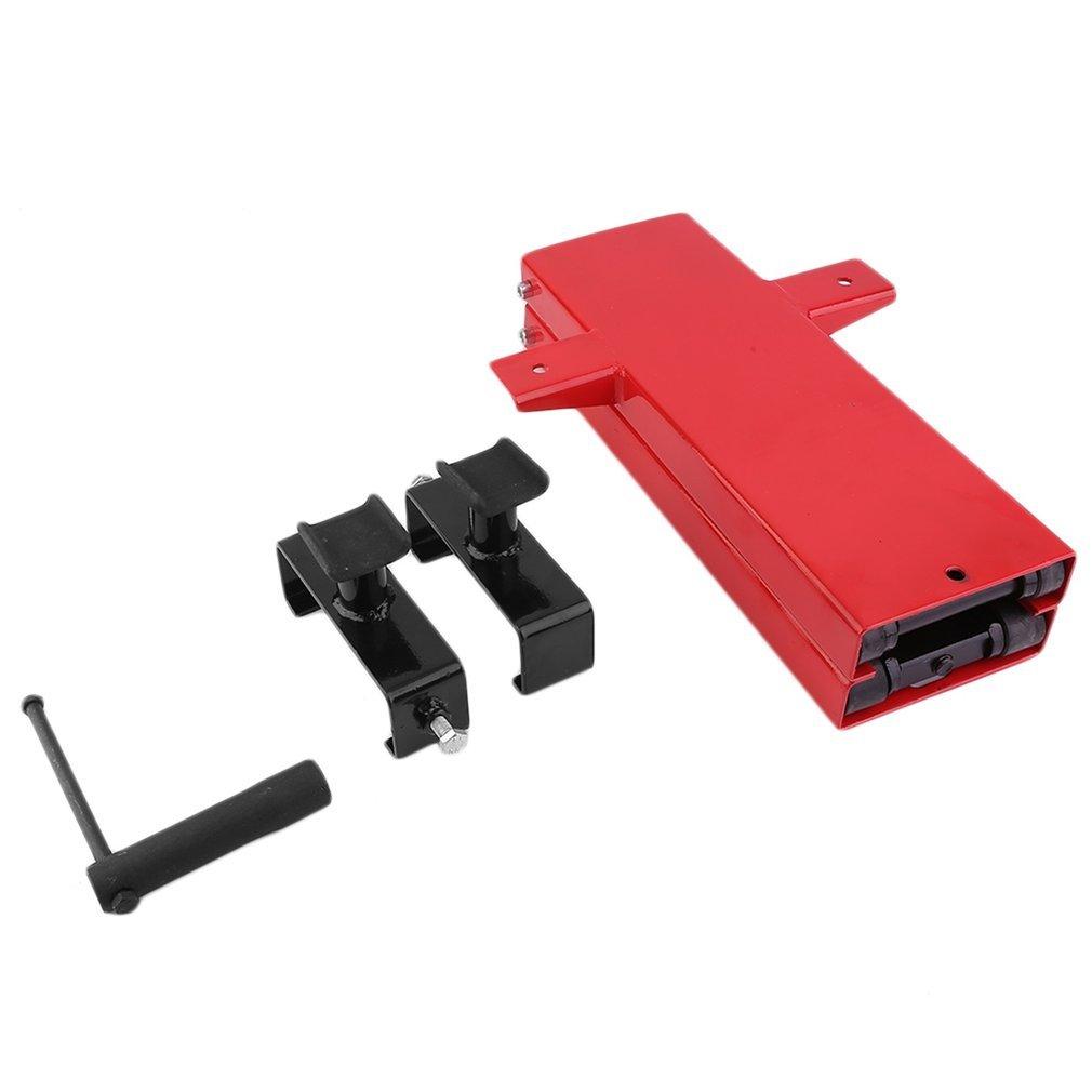 rosso KinshopS Sollevatore da auto per moto Sollevatore a forbice Sollevatore per moto Lift Lift