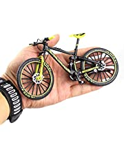 Mini Finger Bikes Mini Alloy Bicycle 1:10 Creative Model Simulation Bicycle Decoration Toy Downhill Mountain Bike Model Collection Kids Gifts