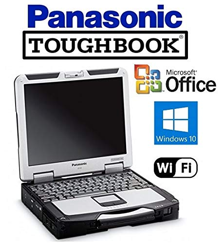 Powerful Panasonic CF-31 Toughbook with Fast Intel Core i5 2.5GHz CPU, Win 10 Pro & MS Office preinstalled on New 120GB SSD, 12GB RAM, 13.1
