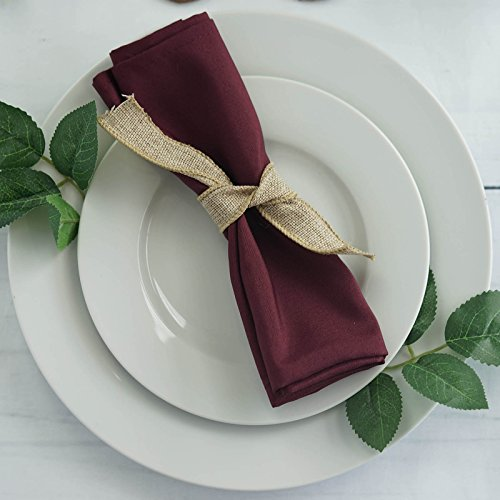 (BalsaCircle 20 pcs 17-Inch Burgundy Polyester Luncheon Napkins - for Wedding Party Reception Events Restaurant Kitchen Home)