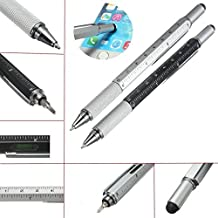 Preamer Metal Multitool Pen Stylus Handy Screwdriver Ruler Spirit Level