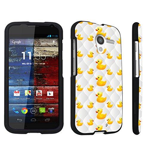 DuroCase ® Motorola Moto X 2013 First Generation Hard Case Black - (Yellow Ducky)