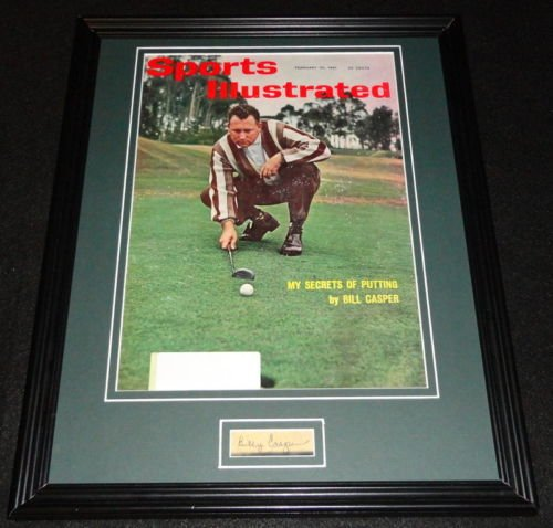 Billy Casper Framed - Billy Casper Signed Framed 1961 Sports Illustrated Magazine Cover Display