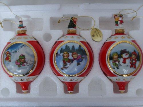 Campbell Kids Porcelain Ornament Set of 3 ;