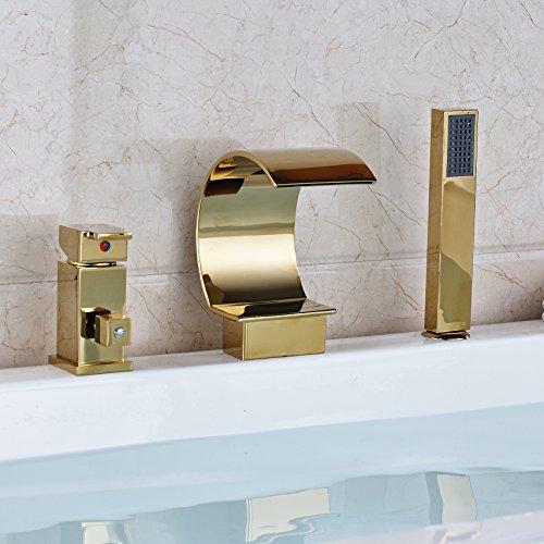 gold bathtub faucet - 9
