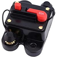 Kretsbrytare billjud DC12-24V effektbrytare för bil marin båt cykel stereo ljud återställning säkring 80-300A (80A)