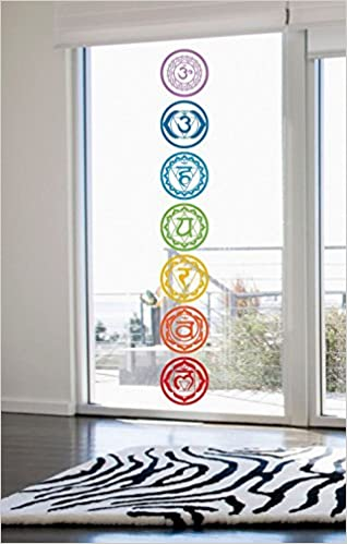 7pcs set chakras symbols vinyl wall stickers mandala yoga om meditation creative wall decals art home decor wallpaper amazon ca books
