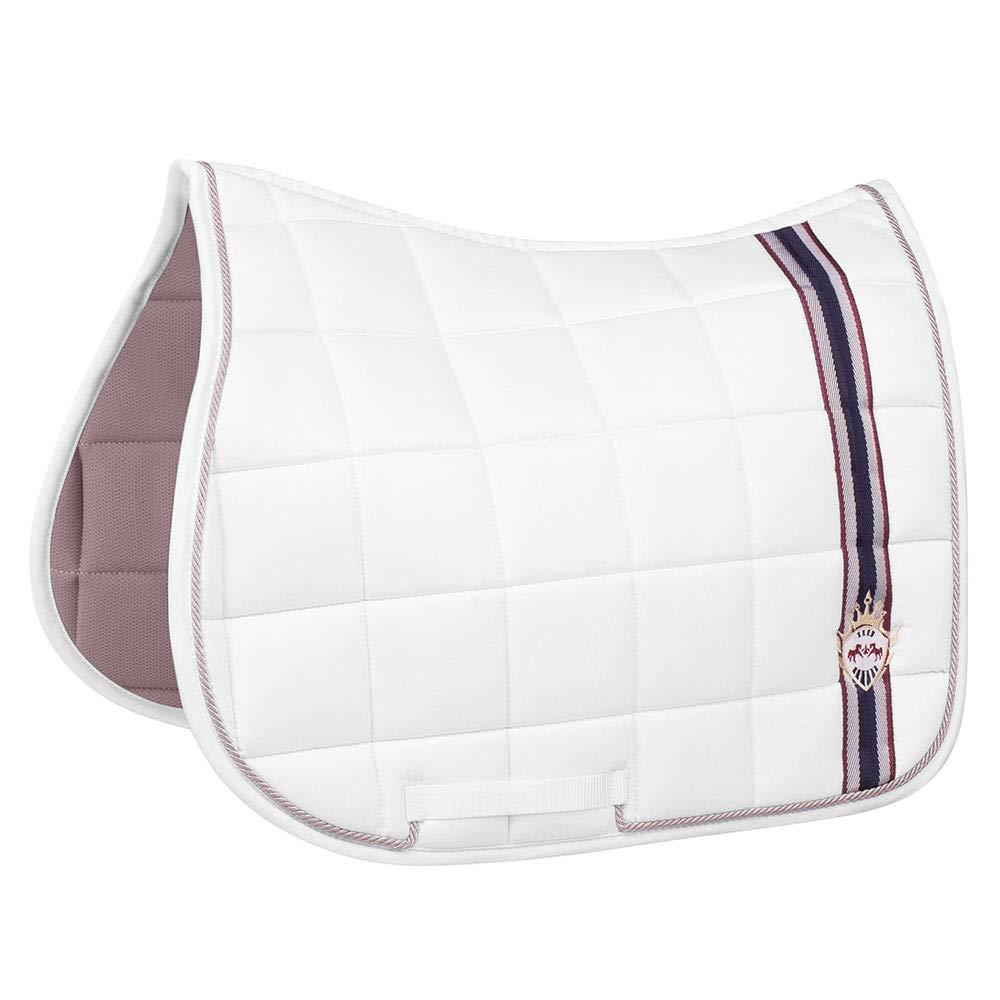 Devon   White Equine Couture All Purpose Saddle Pad   Horse Riding Equestrian Saddle Pad   Size- Standard