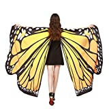 Clearance! Hot Sale! Halloween Butterfly Wings Shawl Scarves Nymph Pixie Poncho Costume For Party Show by Among (168×135CM, A-Orange)