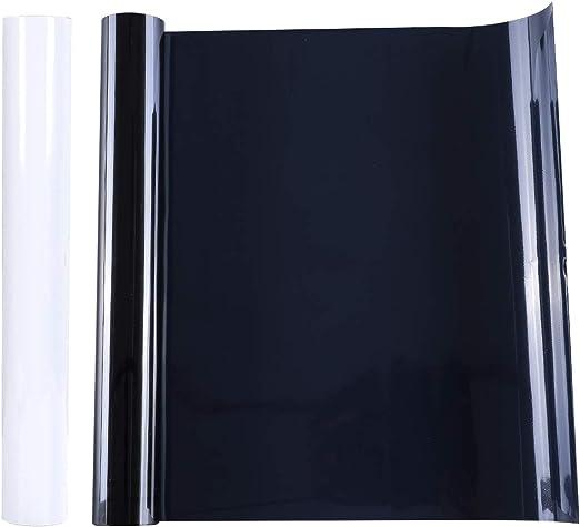 2 Rollos de Vinilo de Transferencia de Calor de 12 Pulgadas x 5 pies de Hierro Adhesivo Imprimible para Camisetas Artesanales Decoración de Tela para Silhouette Cameo (Blanco y Negro): Amazon.es: Hogar