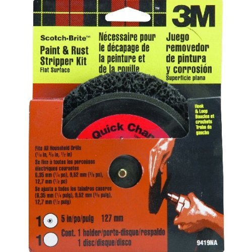 3M Scotch-Brite Flat Surface Paint and Rust Stripper Kit (Surface Prep Pad Kit)