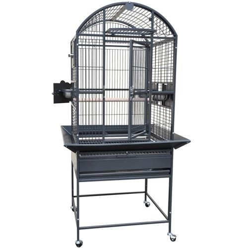 King's Cages 9002422 Parrot CAGE 24x22x60 Dome Top Bird Cage with New Locks (Gray/Silver)
