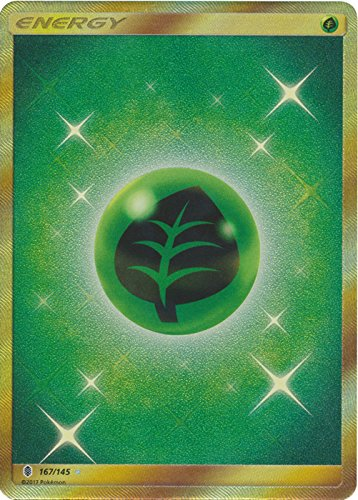 Pokemon Grass Energy - 167/145 - Secret Rare - Sun & Moon: Guardians Rising