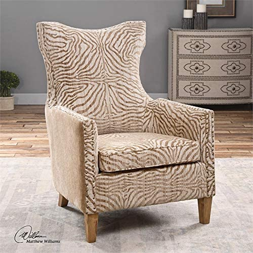 Uttermost Kiango Animal Pattern Armchair