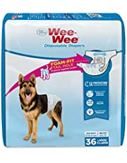 Four Paws Wee-Wee Disposable Dog Diapers 36 Count Large/X-Large