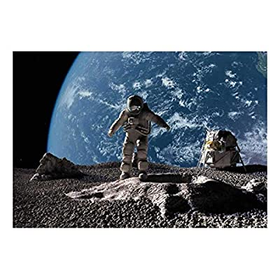 Elegant Style, Spaceman Exploring a Planet with Earth in The Background Wall Mural, Top Quality Design