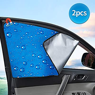 Side Window Sunshade Sun Shade for Car Window Double Thickness Auto Windshield Sunshades Universal Fit for driver UV protection 2 Pack: Automotive