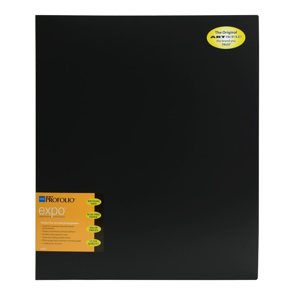 Itoya XP-12-14 Art Profolio Expo 14x17in. Art Size 12 PAGE/24 View Design Black by ITOYA