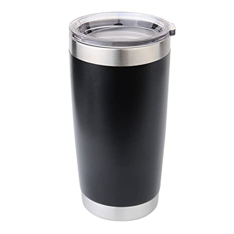 b474e003551 Custom 20oz Personalized Stainless Steel Double-Wall Vacuum Tumbler (Black)