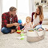 Baby Diaper Caddy Organizer - Stylish Cotton Rope