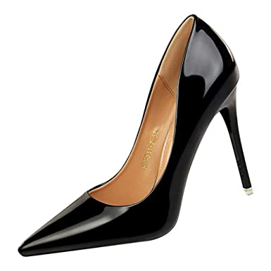 fc5ce97923e8f Amazon.com: GHrcvdhw Stylish Shallow Pointed-Toe High Heels Party Focus  Sexy Womens Bright Color High-Heeled Shoes: Clothing