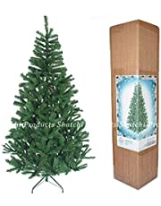Shatchi 1.2m Christmas Tree Green 230 Pines Artificial Tree with Metal Stand