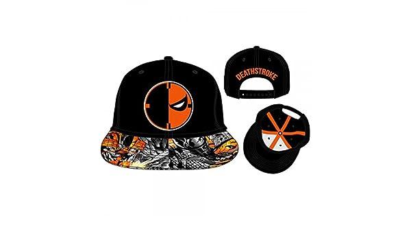 new style 629ae ab219 Baseball Cap - DC Comics - Deathstroke Adjustable Flatbill Hat New  bi2k8qdco  Amazon.ca  Clothing   Accessories