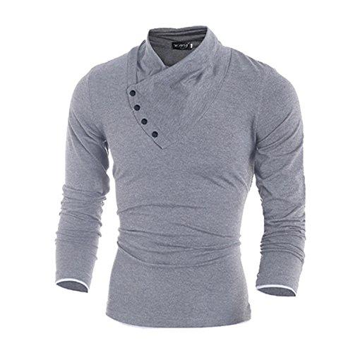 Ambmert Polo Men 2017 Solid Polo Shirt Long Sleeve Slim Polo Ralp Men Cotton Polo Homme Fashion Cotton Sleeve Men Hombre Light Gray - Polo Ralp