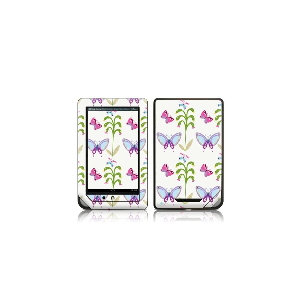 Butterfly Field Design Protective Decal Skin Sticker for Barnes and Noble NOOK COLOR E Book Reader Computers & Accessories