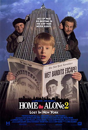 Home Alone 2 Lost in New York Macaulay Culkin Original Single Sided 27x40 Movie Poster 1992