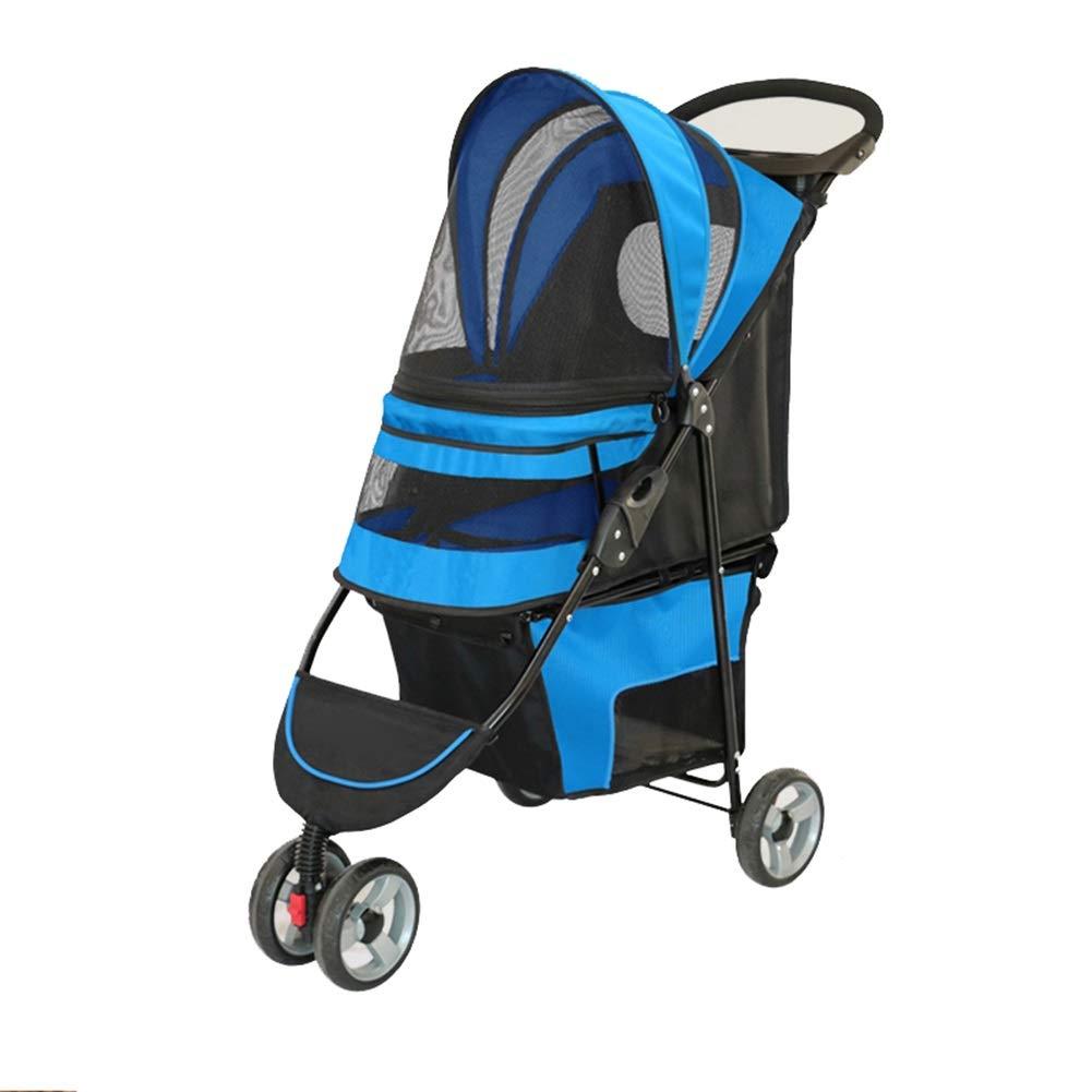 Ryan Passeggino Per Cani Passeggino Per Cani Pet Travel Cart Pet Dog Cat Car (colore   Blu)