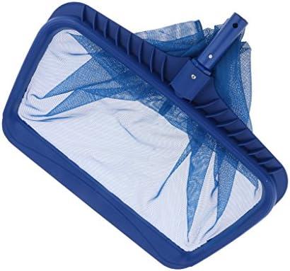 Amuzocity Swimmingpool Spa Deep Bag Blatt Rechen Pool Skimmer Net Aluminium Rahmen Und Griff - Blau, 3 Tief