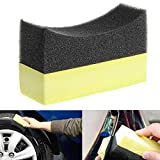 SAILFLO 1pc Car Professional Tyre Tire Dressing Applicator Curved Foam Sponge Pad Car Washer