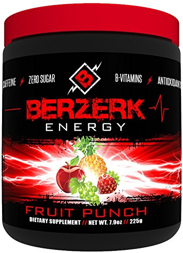 Berzerk Energy Drink Powder Mix Healthy Fruit Punch (30 Servings)