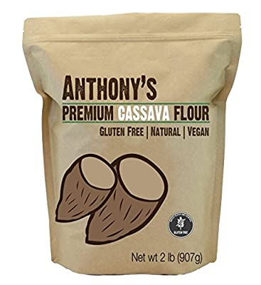 Cassava Flour by Anthony's, 2 pounds (32 Ounce), Certified Gluten-Free by Anthony's Goods
