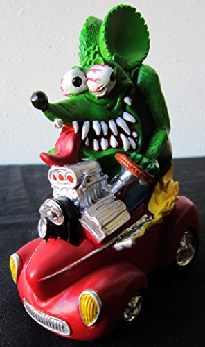 Rat Fink Collectible Figure on Red Hot -